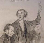 Banquet de barbistes vu par Daumier