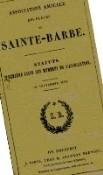 Les statuts de l'amicale barbiste au XIXème siècle